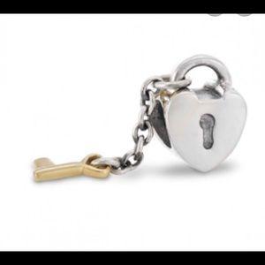 Pandora lock and key charm